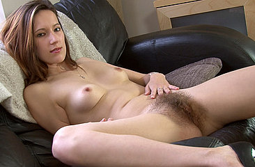 See Sexy Sadie's perfect body in action while she fingers and rubs her hairy snatch on the couch. A pussy so juicy you will shiver in anticipation.